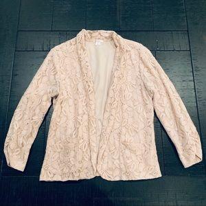 Blush Lace Blazer